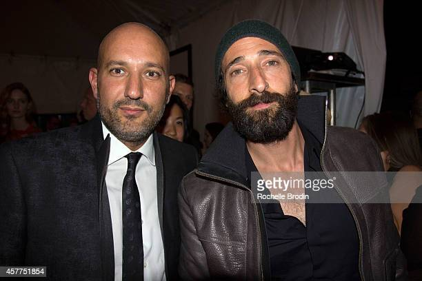Actor Adrien Brody and Steph Sebbag attend the Brian Bowen Smith WILDLIFE show hosted by Casamigos Tequila at De Re Gallery on October 23 2014 in...