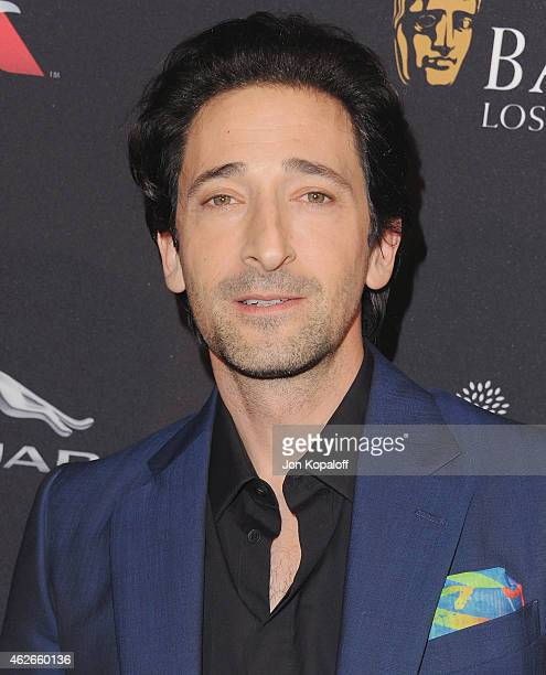Actor Adrien Brody arrives at the 2015 BAFTA Tea Party at The Four Seasons Hotel on January 10 2015 in Beverly Hills California