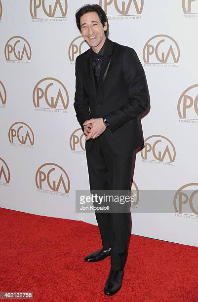 Actor Adrien Brody arrives at the 26th Annual PGA Awards at the Hyatt Regency Century Plaza on January 24 2015 in Los Angeles California