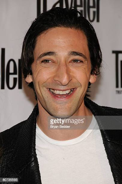 Actor Adrien Brody arrives at the Conde Nast Traveler 8th Annual Hot List party at Mansion on April 17 2008 in New York City