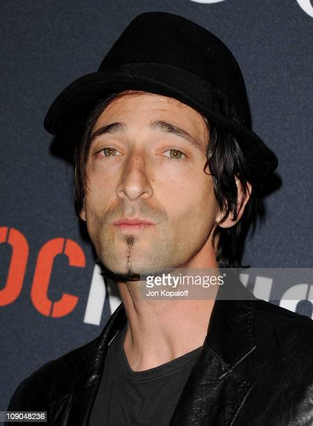 Actor Adrien Brody arrives at the Gucci And RocNation Host PreGrammy Brunch At Soho House at Soho House on February 12 2011 in West Hollywood...