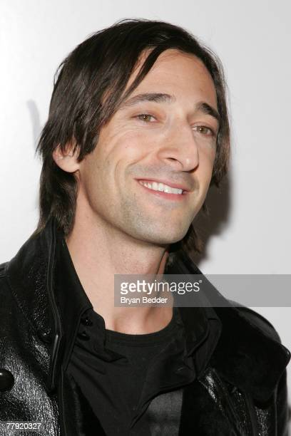 """Actor Adrien Brody arrives at the premiere of """"The Diving Bell And The Butterfly"""" at the Ziegfeld Theater on November 14, 2007 in New York City."""