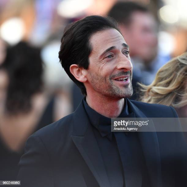 Actor Adrien Brody arrives for the screening of the film 'The Man who Killed Don Quixote' and Closing Awards Ceremony at the 71st Cannes Film...