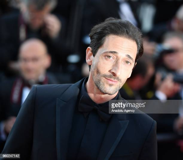 US actor Adrien Brody arrives for the screening of the film 'The Man who Killed Don Quixote' and Closing Awards Ceremony at the 71st Cannes Film...