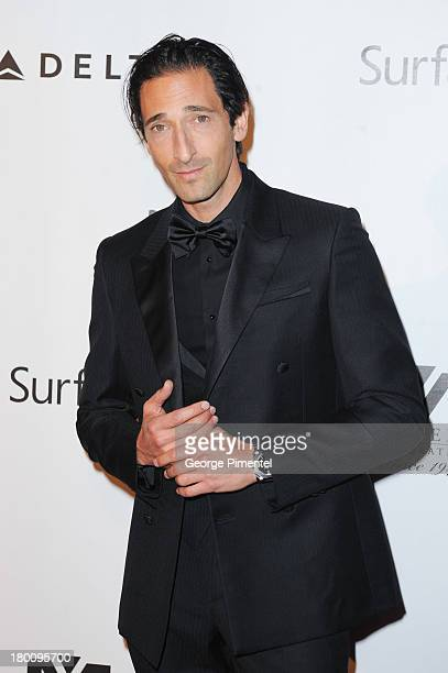 Actor Adrien Brody attends amfAR Inspiration Gala during the 2013 Toronto International Film Festival at The Carlu on September 8 2013 in Toronto...