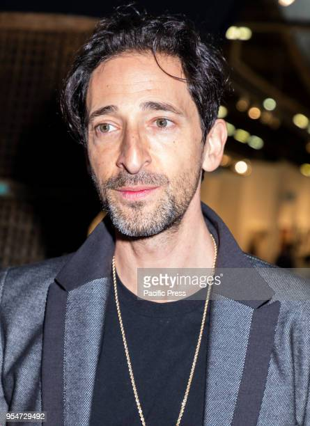 Actor Adrien Brody attends Art New York at Pier 94 Manhattan