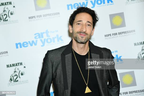 Actor Adrien Brody attends Art New York on May 3 2018 at Pier 94 in New York City