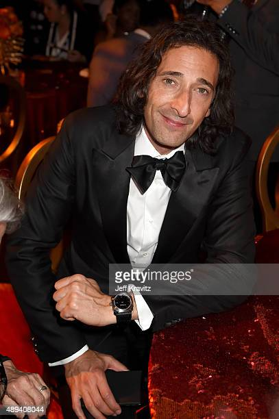 Actor Adrien Brody attends HBO's Official 2015 Emmy After Party at The Plaza at the Pacific Design Center on September 20 2015 in Los Angeles...