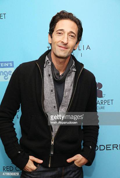 Actor Adrien Brody attends Kari Feinstein's PreAcademy Awards Style Lounge at the Andaz West Hollywood on February 28 2014 in Los Angeles California