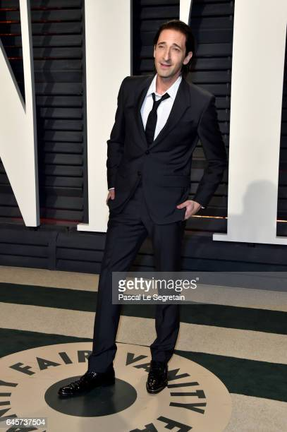 Actor Adrien Brody attends the 2017 Vanity Fair Oscar Party hosted by Graydon Carter at Wallis Annenberg Center for the Performing Arts on February...