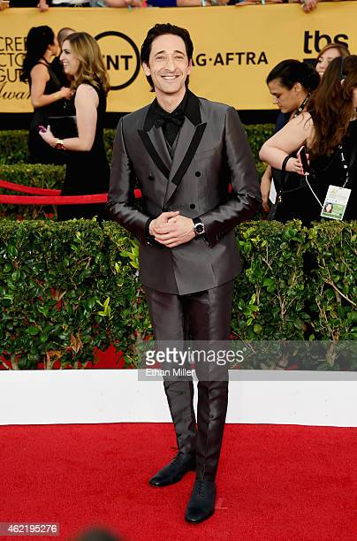 Actor Adrien Brody attends the 21st Annual Screen Actors Guild Awards at The Shrine Auditorium on January 25 2015 in Los Angeles California