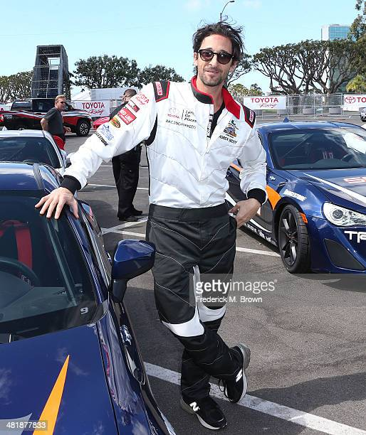 Actor Adrien Brody attends the 37th Annual Toyota Pro/Celebrity Race Practice Day on April 1 2014 in Long Beach California