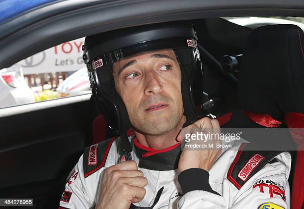 Actor Adrien Brody attends the 37th Annual Toyota Pro/Celebrity Race qualifiying on April 11 2014 in Long Beach California
