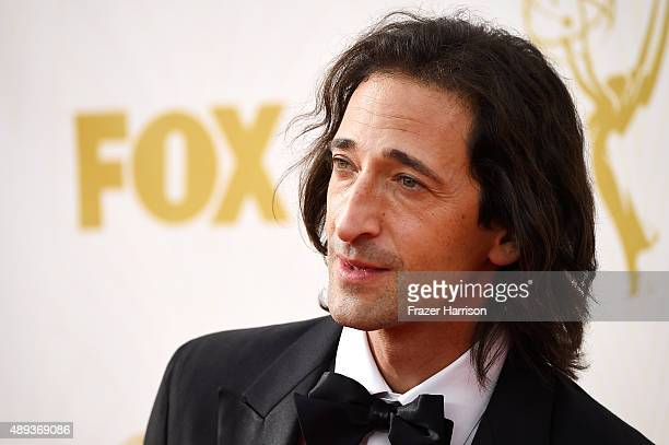 Actor Adrien Brody attends the 67th Annual Primetime Emmy Awards at Microsoft Theater on September 20 2015 in Los Angeles California