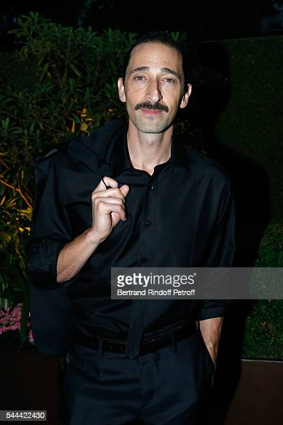 Actor Adrien Brody attends the Amfar Paris Dinner - Stars gather for Amfar during the Haute Couture Week - Held at The Peninsula Hotel on July 3,...