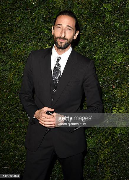 Actor Adrien Brody attends the Charles Finch and Chanel PreOscar Awards Dinner at Madeo Restaurant on February 27 2016 in Los Angeles California