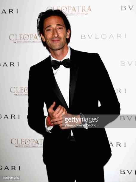 Actor Adrien Brody attends the 'Cleopatra' cocktail hosted by Bulgari during The 66th Annual Cannes Film Festival at JW Marriott on May 21 2013 in...