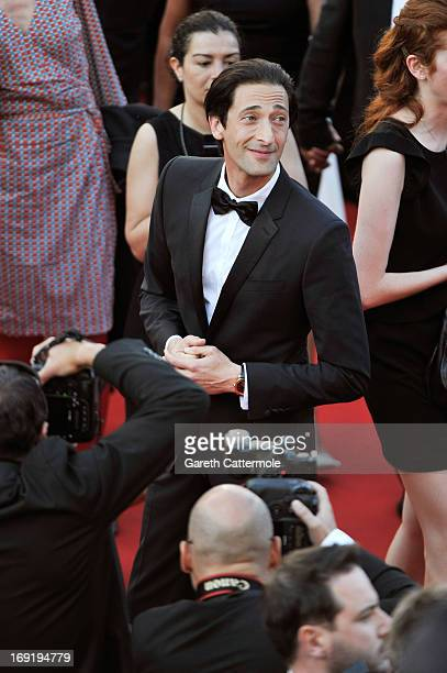 Actor Adrien Brody attends the 'Cleopatra' premiere during The 66th Annual Cannes Film Festival at The 60th Anniversary Theatre on May 21 2013 in...