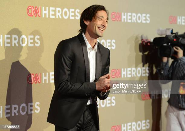 Actor Adrien Brody attends the CNN Heroes: An All Star Tribute at The Shrine Auditorium on December 2, 2012 in Los Angeles, California....