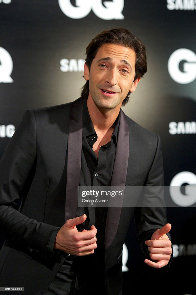 Actor Adrien Brody attends the GQ Men Of The Year award 2012 at the Ritz Hotel on November 19, 2012 in Madrid, Spain.
