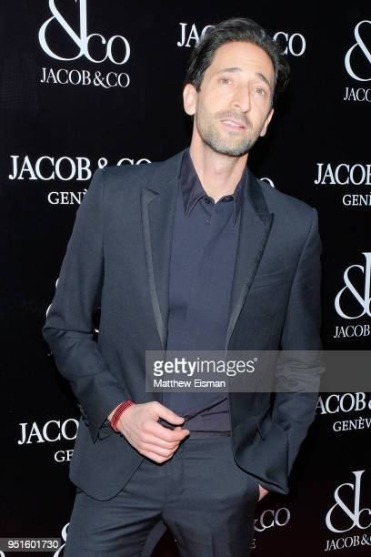 Actor Adrien Brody attends the Jacob & Co. New York City Flagship Grand Re-opening on April 26, 2018 in New York City.