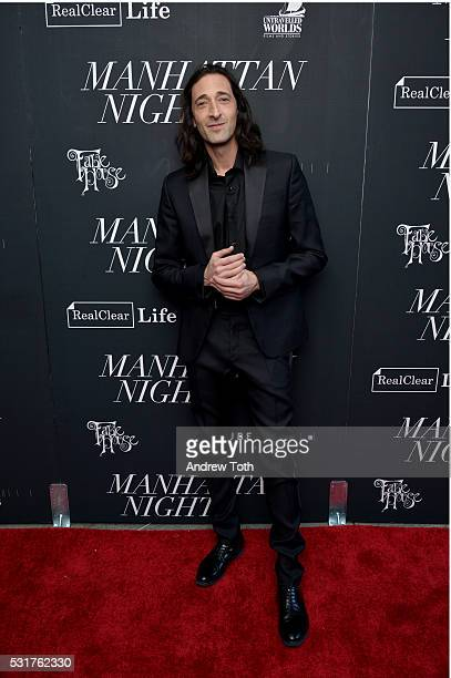 Actor Adrien Brody attends the 'Manhattan Night' New York screening at Regal Cinemas Union Square on May 16 2016 in New York City