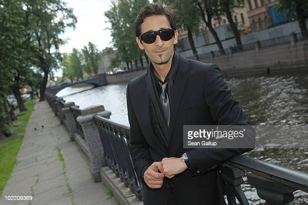 Actor Adrien Brody attends the Montblanc White Nights Festival Lunch on June 18 2010 in Saint Petersburg Russia