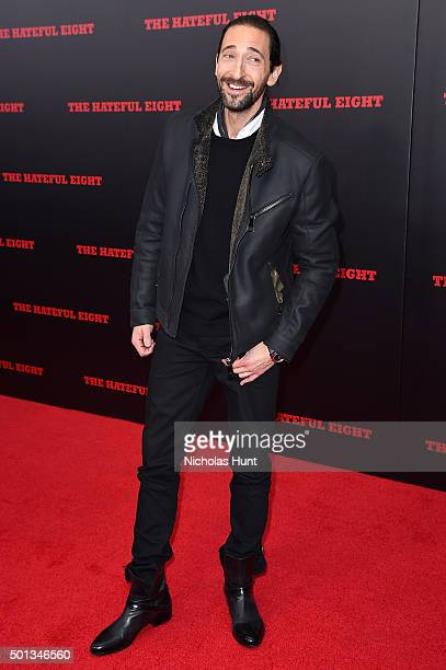 Actor Adrien Brody attends the New York premiere of The Hateful Eight on December 14 2015 in New York City