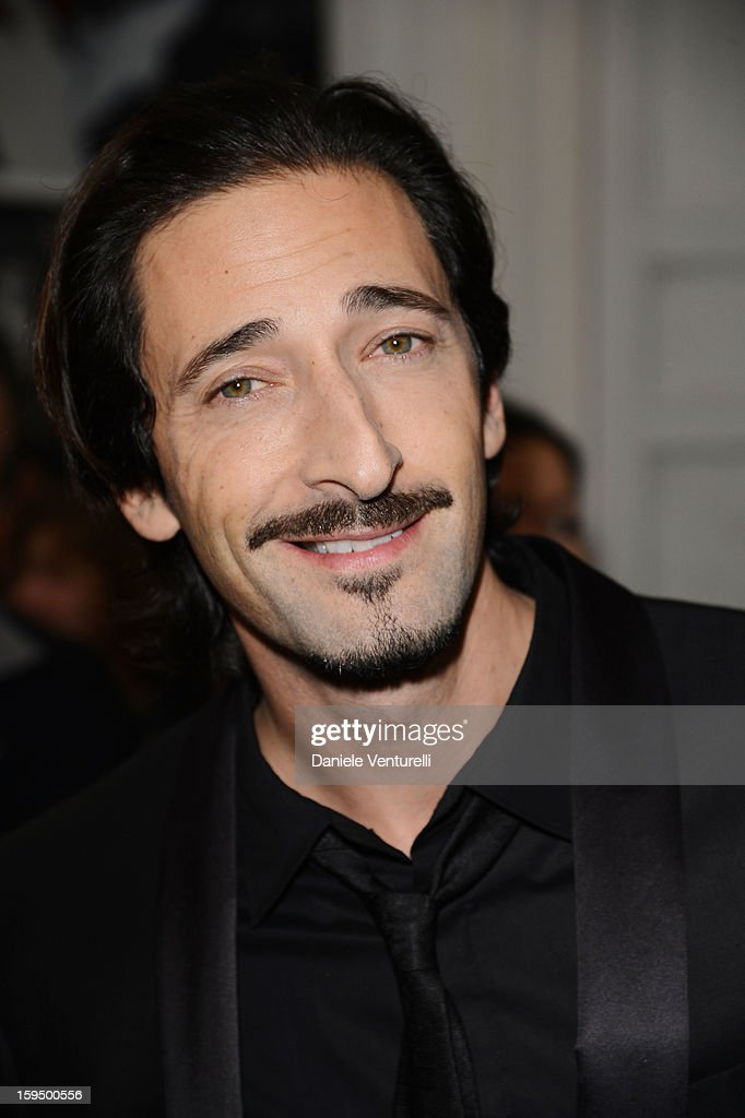 Actor Adrien Brody attends the 'So Chic So Stylish' cocktail party as part of Milan Fashion Week Menswear Autumn/Winter 2013 on January 14, 2013 in Milan, Italy.