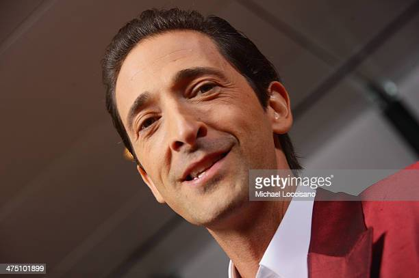 Actor Adrien Brody attends the 'The Grand Budapest Hotel' New York Premiere at Alice Tully Hall on February 26 2014 in New York City