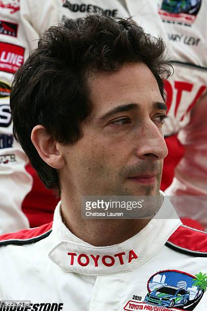 Actor Adrien Brody attends the Toyota Grand Prix Pro / Celebrity Race Day on April 17 2010 in Long Beach California