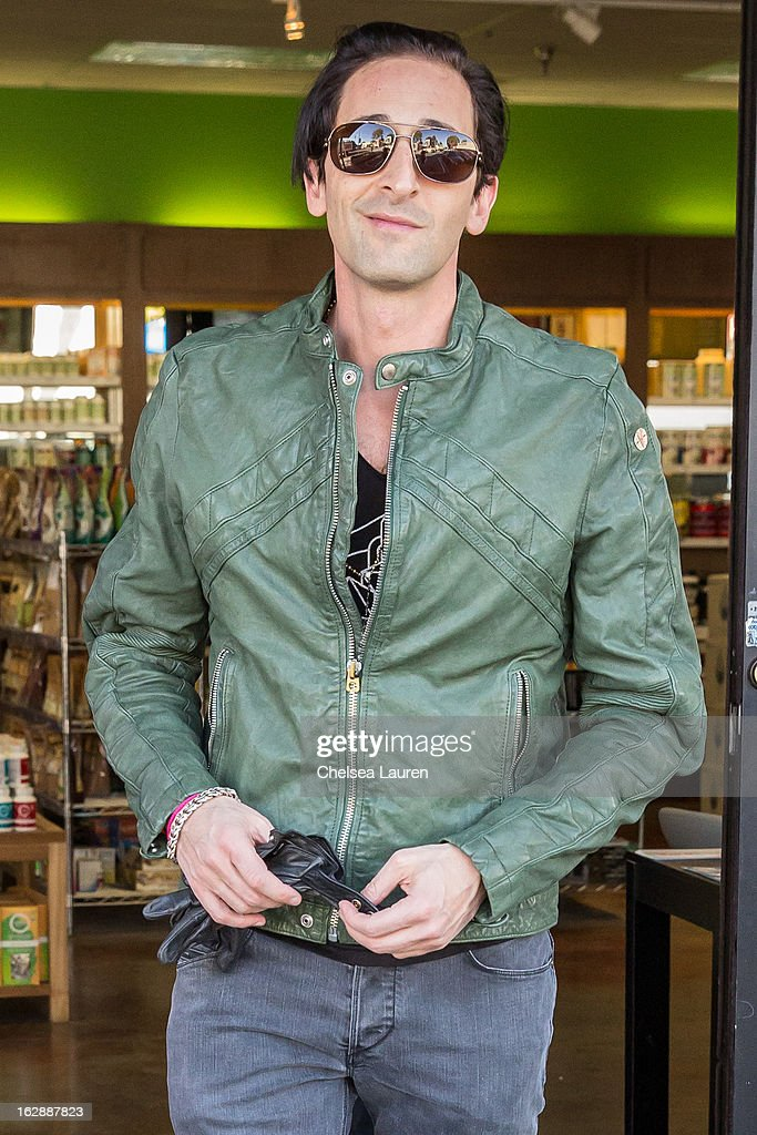 Actor Adrien Brody is seen on February 28, 2013 in Los Angeles, California.