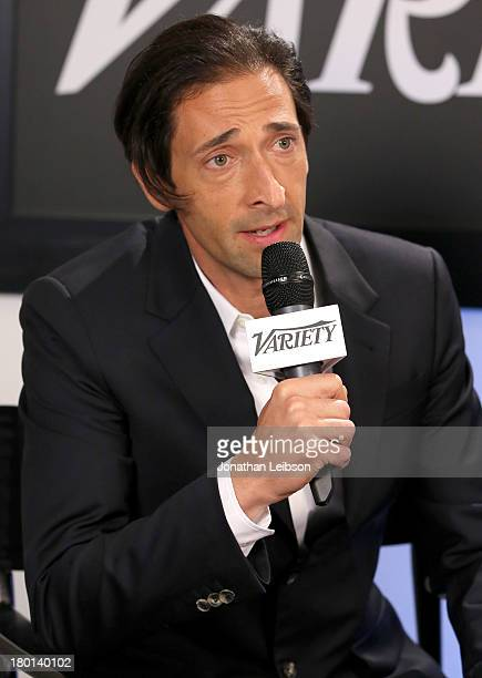 Actor Adrien Brody speaks at the Variety Studio presented by Moroccanoil at Holt Renfrew during the 2013 Toronto International Film Festival on...