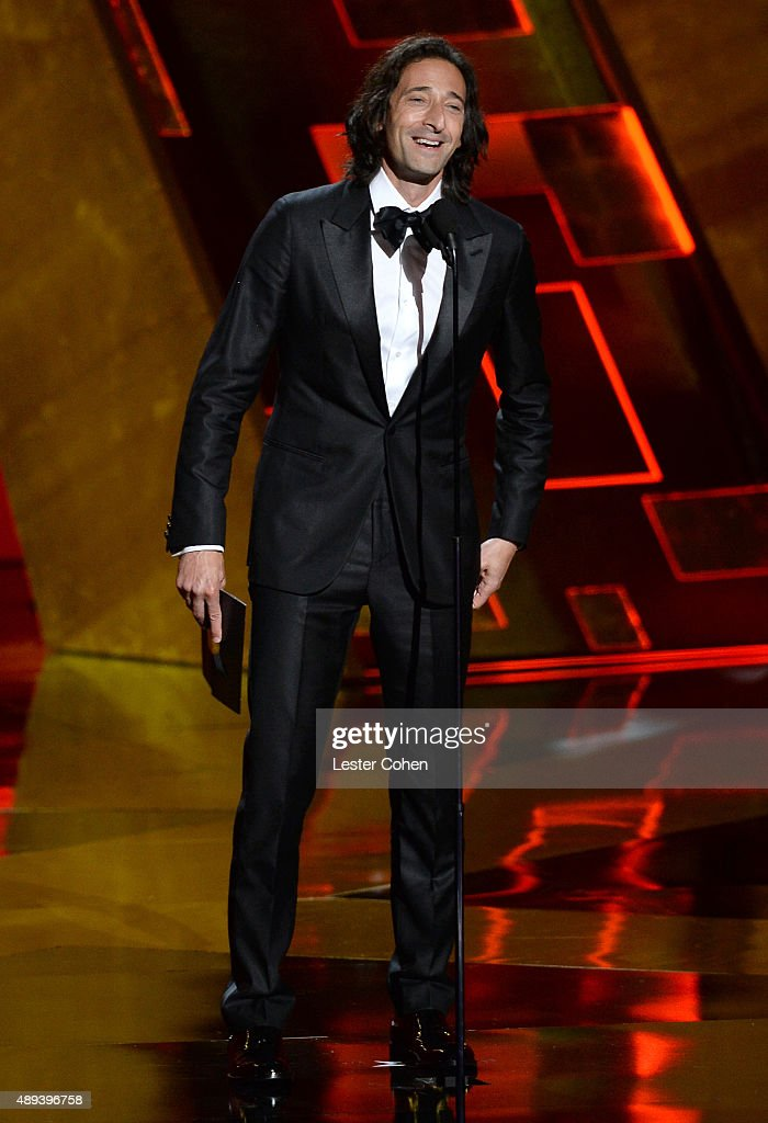 Actor Adrien Brody speaks onstage during the 67th Annual Primetime Emmy Awards at Microsoft Theater on September 20, 2015 in Los Angeles, California.