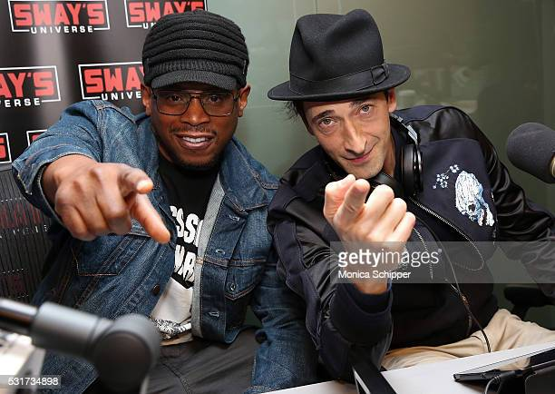 Actor Adrien Brody visits 'Sway in the Morning' with Sway Calloway on Eminem's Shade 45 at SiriusXM Studio on May 16 2016 in New York City