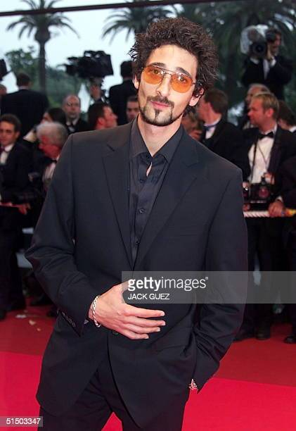 US actor Adrien brody who stars in O Brother Where Art Thou poses upon his arrival at the Palais des Festivals for the screening of US director Joel...