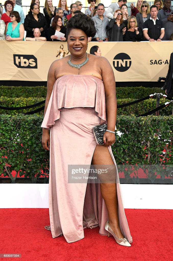 Actor Adrienne C. Moore attends The 23rd Annual Screen Actors Guild Awards at The Shrine Auditorium on January 29, 2017 in Los Angeles, California. 26592_008
