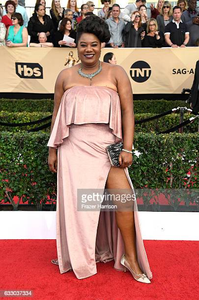 Actor Adrienne C Moore attends The 23rd Annual Screen Actors Guild Awards at The Shrine Auditorium on January 29 2017 in Los Angeles California...