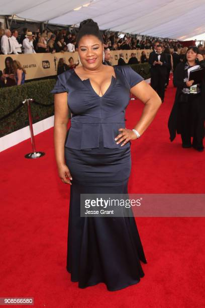 Actor Adrienne C Moore attends the 24th Annual Screen ActorsGuild Awards at The Shrine Auditorium on January 21 2018 in Los Angeles California