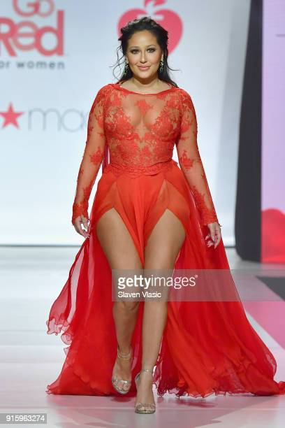 Actor Adrienne Houghton onstage at the American Heart Association's Go Red For Women Red Dress Collection 2018 presented by Macy's at Hammerstein...