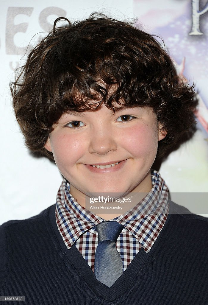 Actor Aedin Mincks arrives at the Los Angeles opening night performance of 'Peter Pan' at the Pantages Theatre on January 15, 2013 in Hollywood, California.