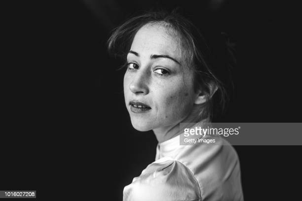 Actor Aenne Schwarz poses at the Alles ist gut photocall during the 71st Locarno Film Festival on August 8 2018 in Locarno Switzerland