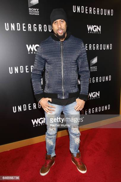 Actor Affion Crocket attends WGN America's Underground Season Two Premiere Screening at Regency Village Theatre on March 1 2017 in Westwood California