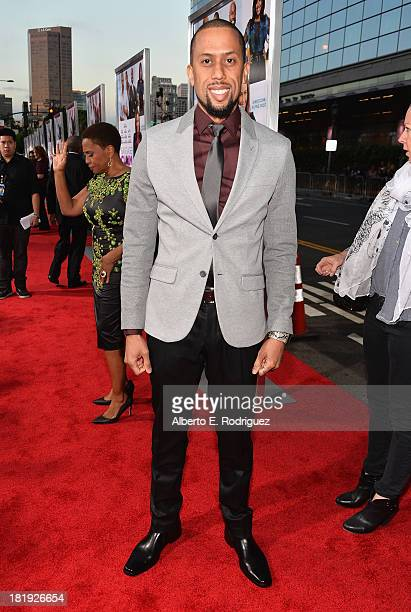 Actor Affion Crockett attends the premiere of Fox Searchlight Pictures' Baggage Claim at Regal Cinemas LA Live on September 25 2013 in Los Angeles...