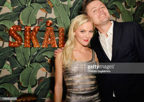 Actor Agnes Lindström Bolmgren and director Fredrik Wikingsson attend the after party for the premiere of SF Studios' The Cake General at Elyx House...