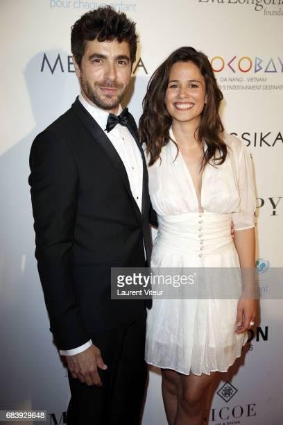 Actor Agustin Galiana and Actress Lucie Lucas attend Global Gift Gala 2017 at Hotel George V on May 16 2017 in Paris France