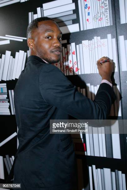 Actor Ahmed Drame attends the Manifesto Sonia Rykiel 5Oth Birthday Party at the Flagship Store Boulevard Saint Germain des Pres on January 16 2018 in...