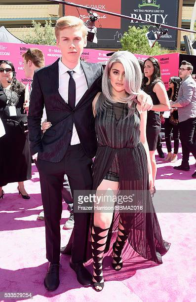 Actor Aidan Alexander and internet personality Lauren Giraldo attend the 2016 Billboard Music Awards at TMobile Arena on May 22 2016 in Las Vegas...