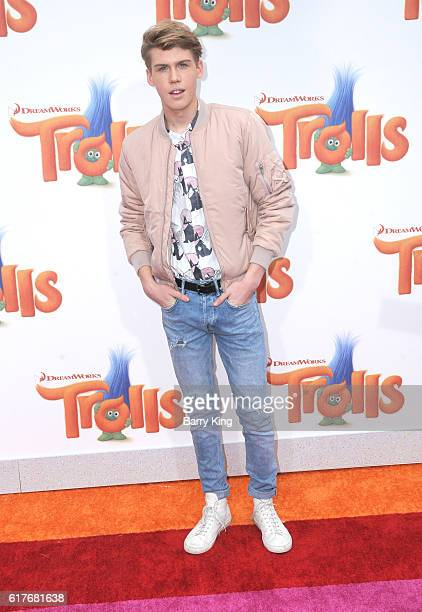Actor Aidan Alexander attends the premiere of 20th Century Fox's 'Trolls' at Regency Village Theatre on October 23 2016 in Westwood California