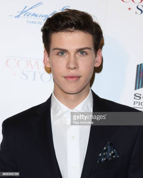 Actor Aidan Alexander attends the premiere of 'A Cowgirl's Story' at Pacific Theatres at The Grove on April 13 2017 in Los Angeles California
